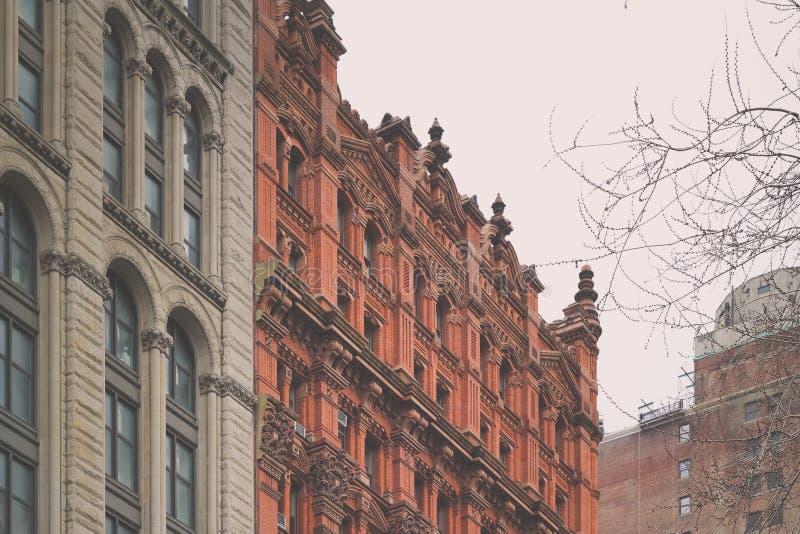 Bâtiments de Manhattan de bel Architechture photos stock