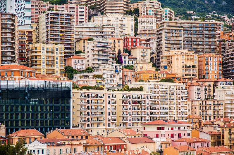 Bâtiments de ville image stock