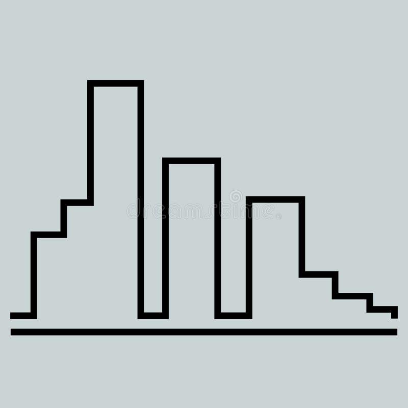 Bâtiments de ville de vecteur Calibre de conception de logo de construction de bâtiments illustration libre de droits