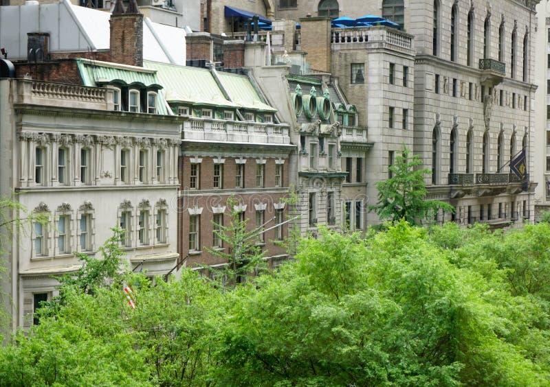 Bâtiments denses de New York City image libre de droits