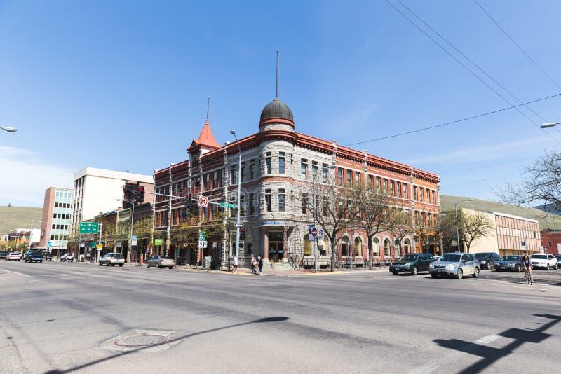 Bâtiments du centre dans Missoula, Montana photos libres de droits