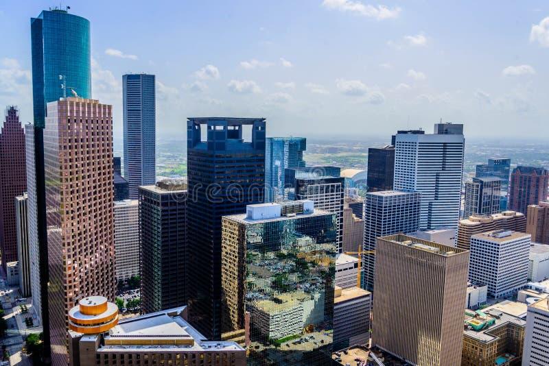 Bâtiments du centre de Houston photographie stock