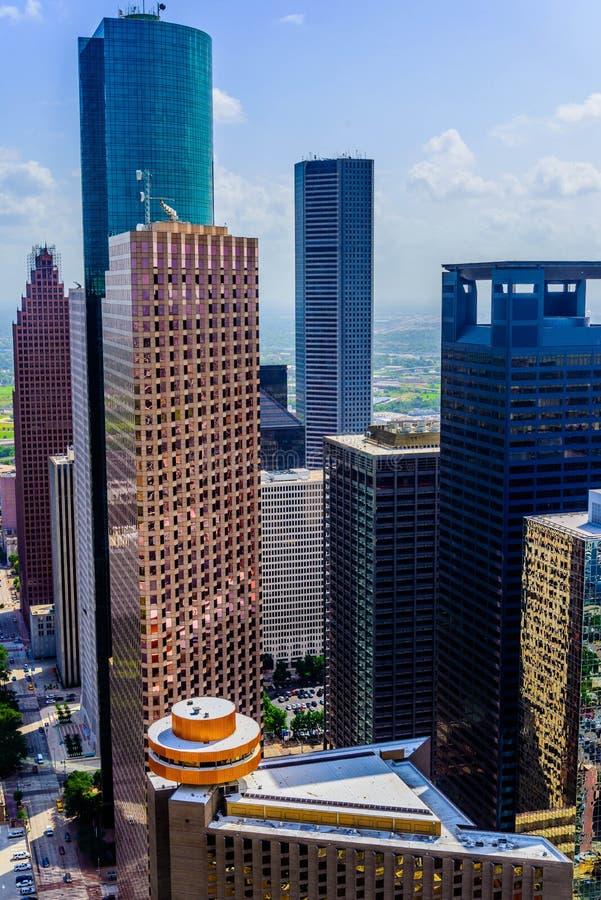 Bâtiments du centre de Houston photos libres de droits