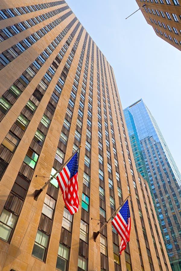 Bâtiments du centre de New York City image libre de droits