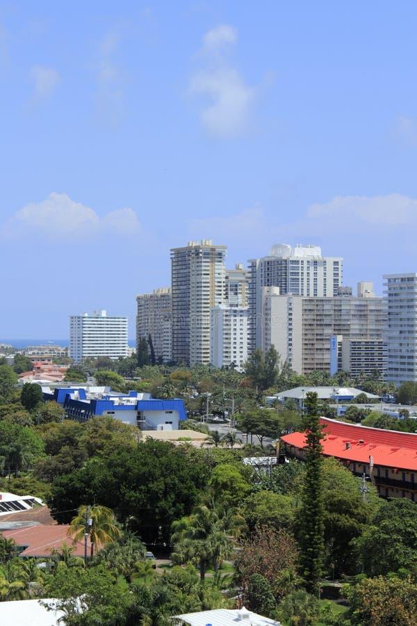Bâtiments du front de mer de Fort Lauderdale images stock