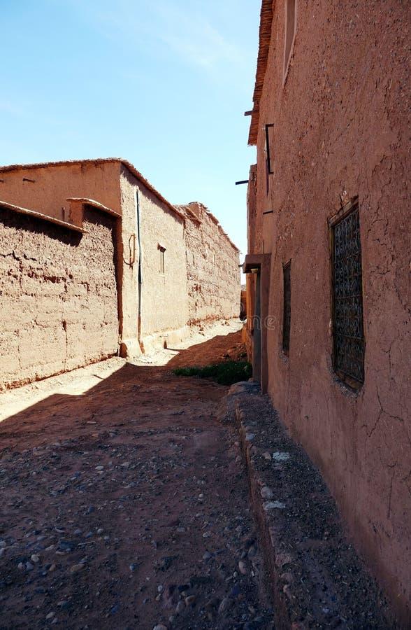 Bâtiments en air Benhaddou, Maroc, Afrique photo libre de droits