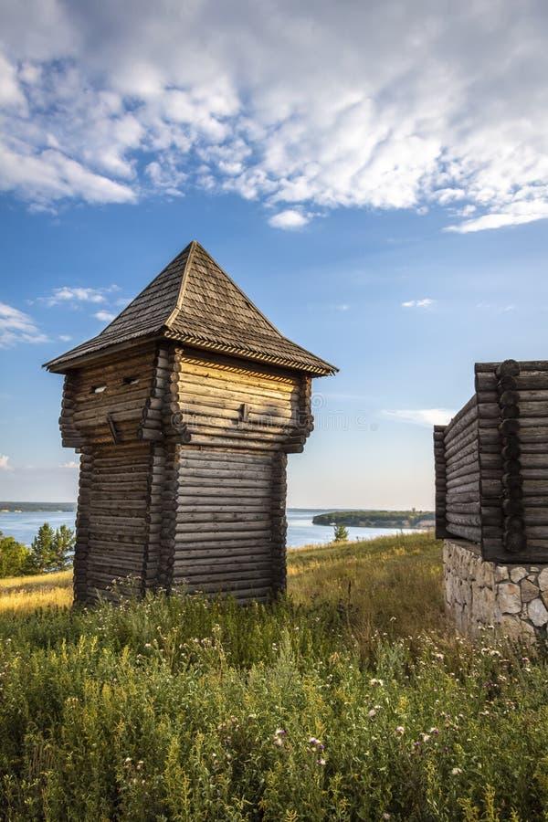 Bâtiments en bois historiques photos stock