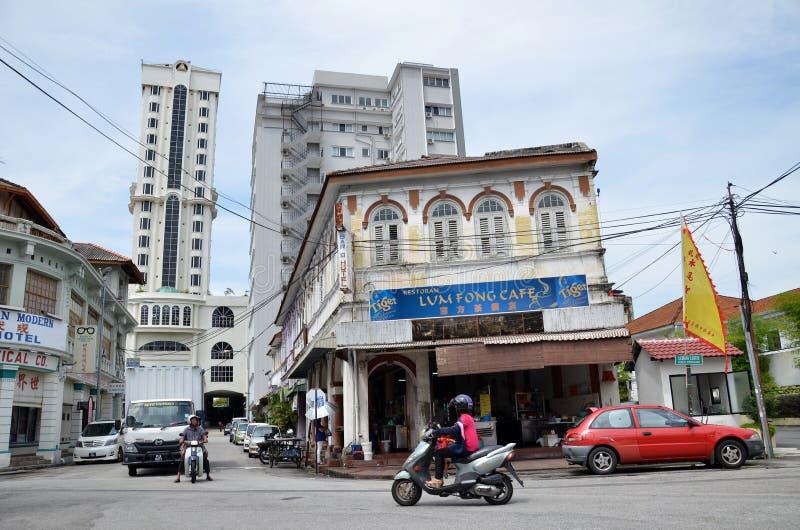Bâtiments en site de patrimoine mondial de l'UNESCO de George Town image stock