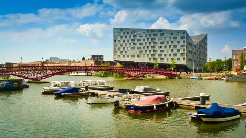 Quartiers des docks orientaux d'Amsterdam photos stock