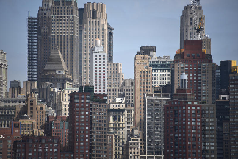 Bâtiments et détail d'horizon dans la batterie Park City, Lower Manhattan, New York City, NY image libre de droits