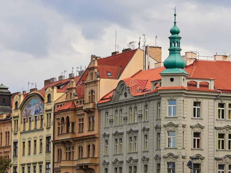 Bâtiments et rues de Prague, République Tchèque photographie stock