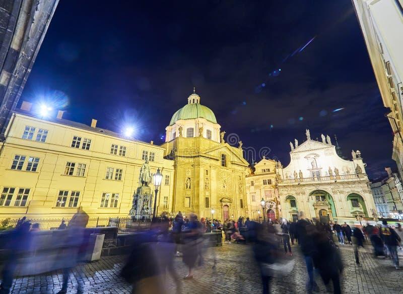 Bâtiments et rues de Prague, République Tchèque images libres de droits