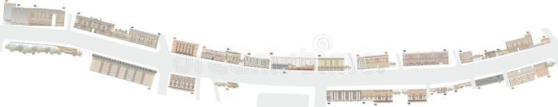 Bâtiments et structures du tôt et de la moitié du 20ème siècle illustration de vecteur