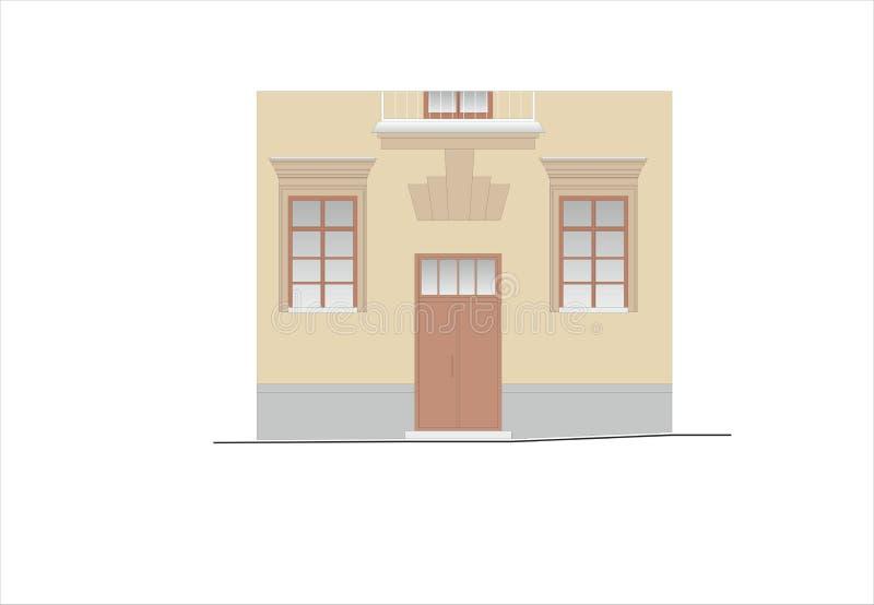 Bâtiments et structures du tôt et de la moitié du 20ème siècle illustration stock