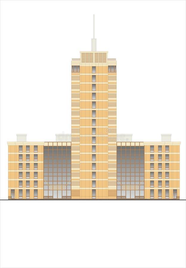 Bâtiments et structures du tôt et de la moitié du 20ème siècle Dessins des maisons de l'architecture classique de la fin de 18-19 illustration libre de droits
