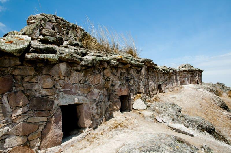 Bâtiments funéraires de Chullpa images libres de droits