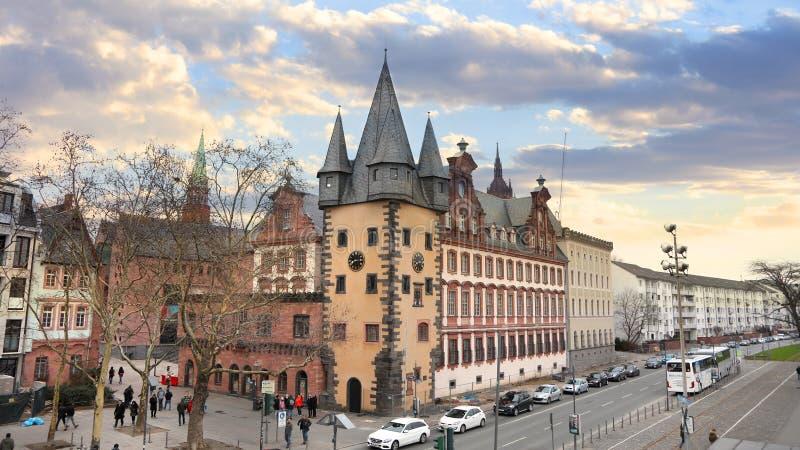 Bâtiments historiques à Francfort, Allemagne image libre de droits