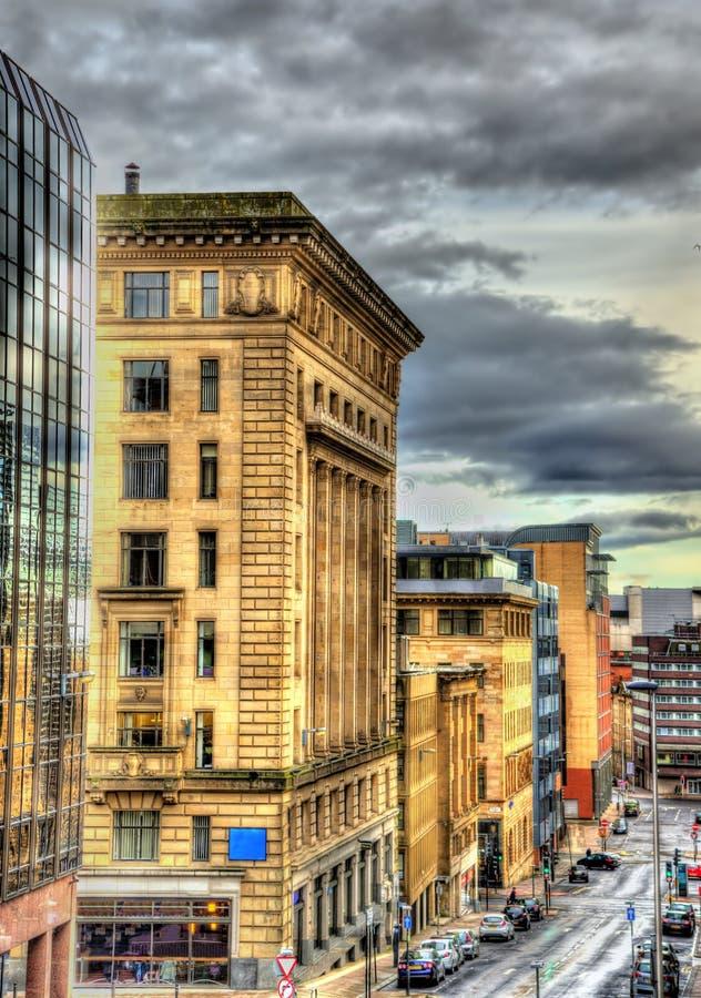 Bâtiments historiques au centre de Glasgow photos stock