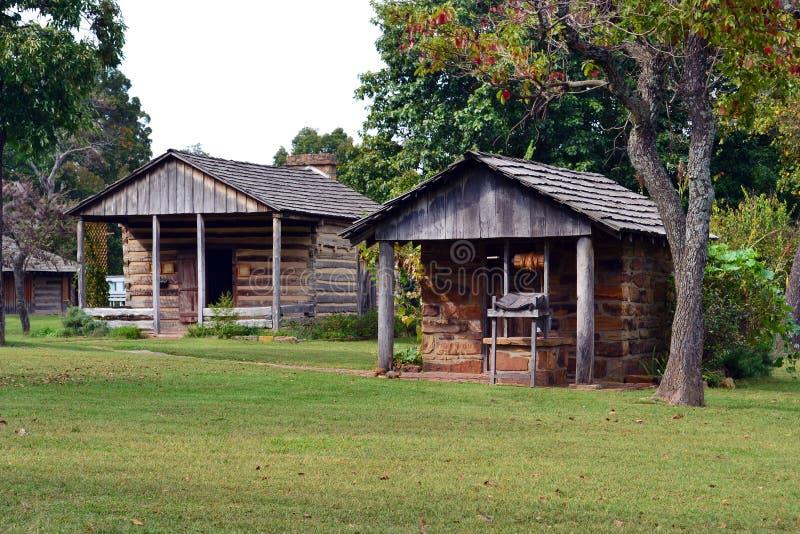 Bâtiments historiques au parc d'état de verger de prairie photographie stock libre de droits