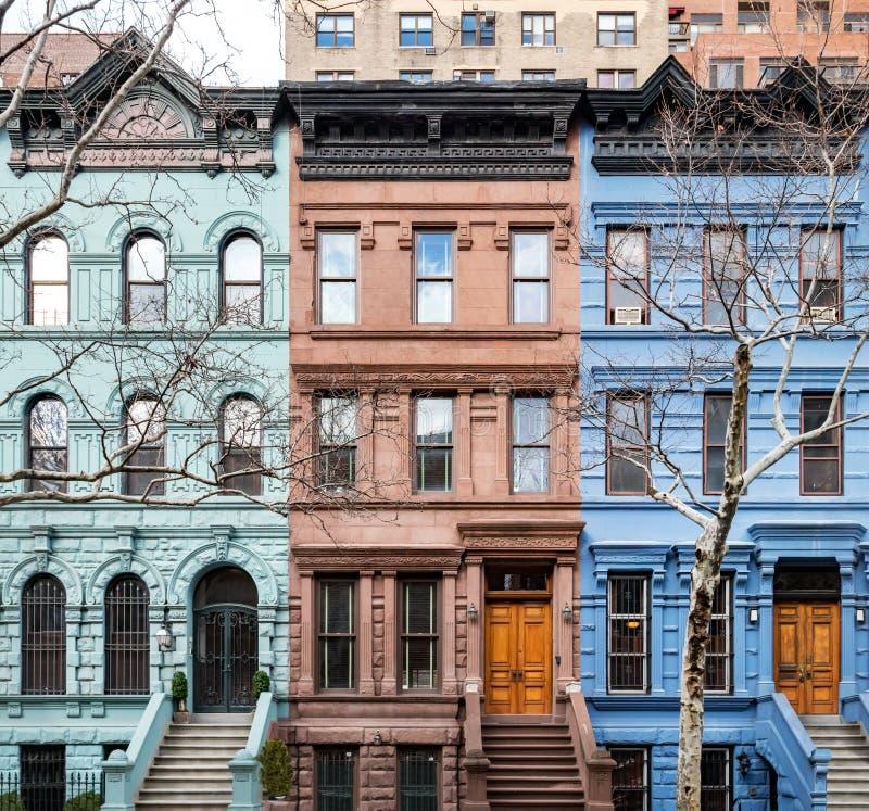 Bâtiments historiques colorés à Manhattan New York City photographie stock libre de droits