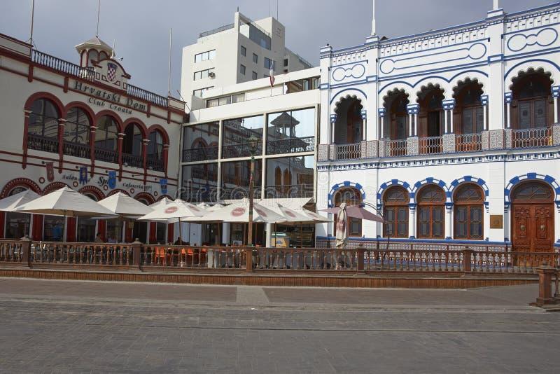 Bâtiments historiques d'Iquique, Chili photos libres de droits
