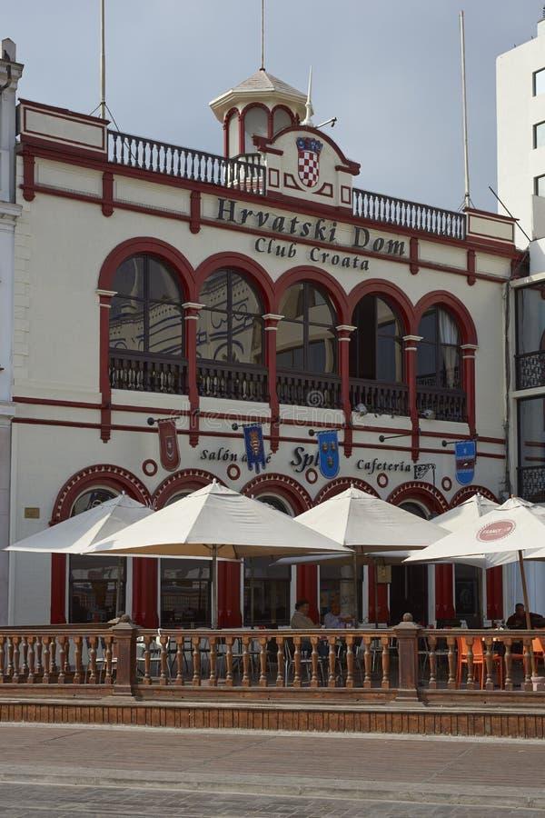 Bâtiments historiques d'Iquique, Chili photos stock