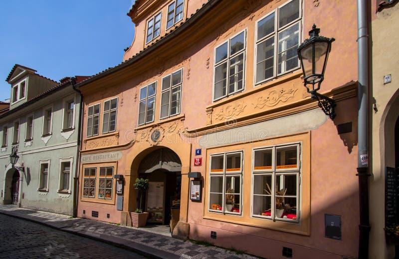 Bâtiments historiques dans la vieille ville à Prague, République Tchèque photo stock