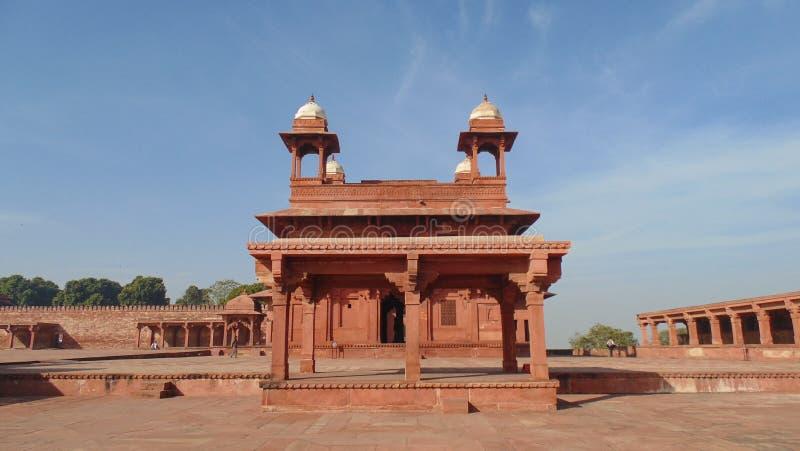 Bâtiments historiques de Fatehpur Sikri à Âgrâ, Inde photo stock