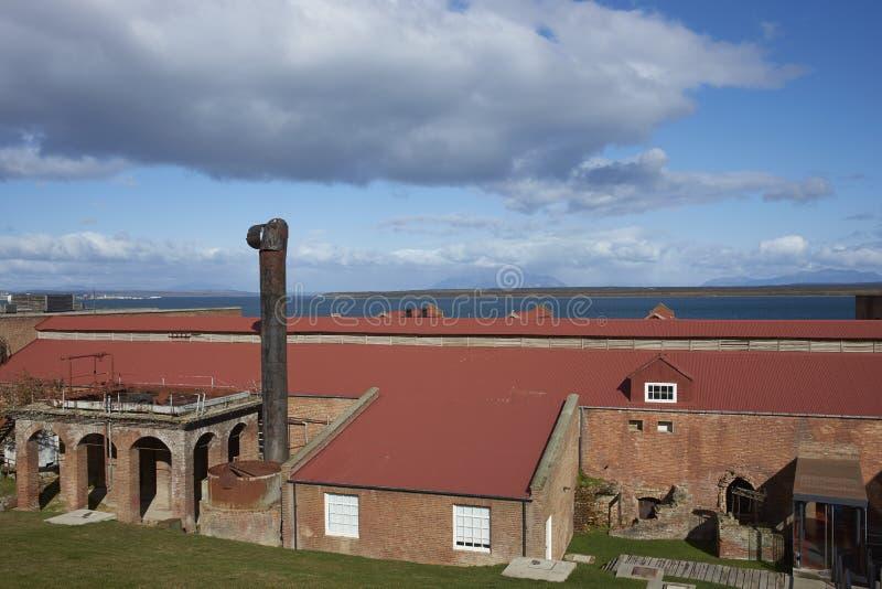Bâtiments historiques de Patagonia image stock