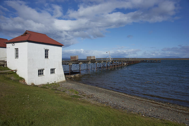 Bâtiments historiques de Patagonia images stock