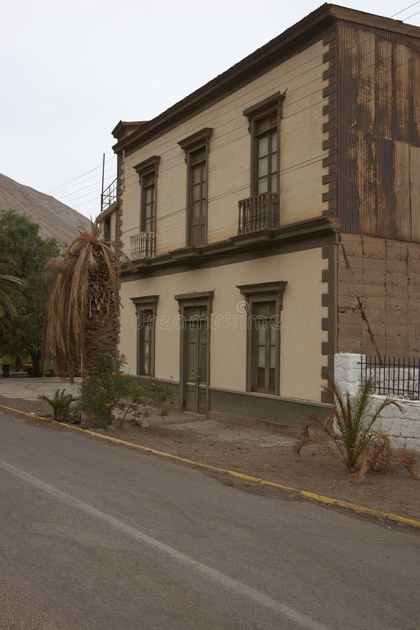 Bâtiments historiques de Pisagua, Chili image stock