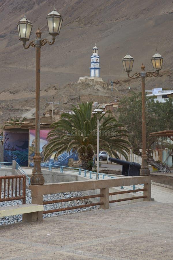 Bâtiments historiques de Pisagua, Chili image libre de droits