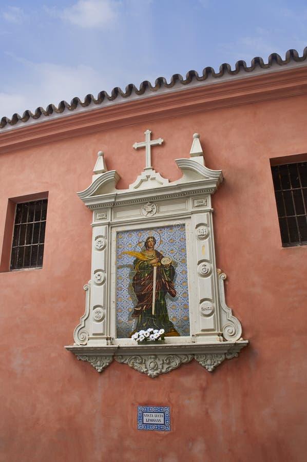 Bâtiments historiques et monuments de Séville, Espagne Styles architecturaux espagnols de gothique Santa Catalina images stock