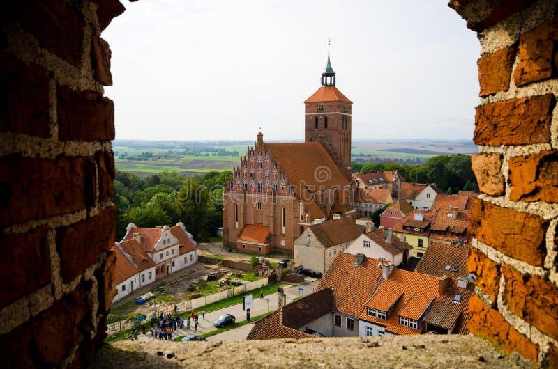 Bâtiments impressionnants dans Reszel, Pologne photo libre de droits
