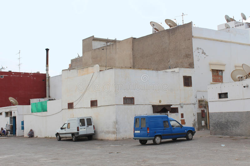 Bâtiments industriels Arabes Agadir, Maroc photos stock