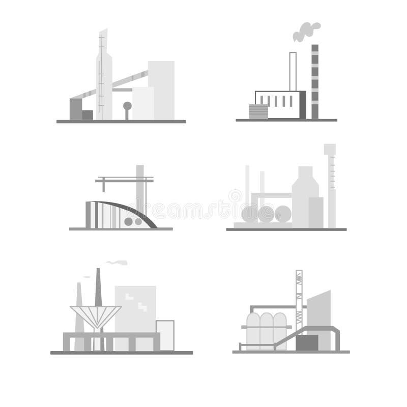 Bâtiments industriels et structures illustration de vecteur