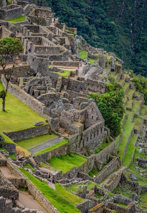 Bâtiments intérieurs de Machu Picchu photographie stock