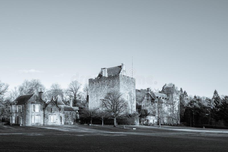 Bâtiments majestueux de château de doyen en Sc est de Kilmarnock d'Ayrshire images libres de droits