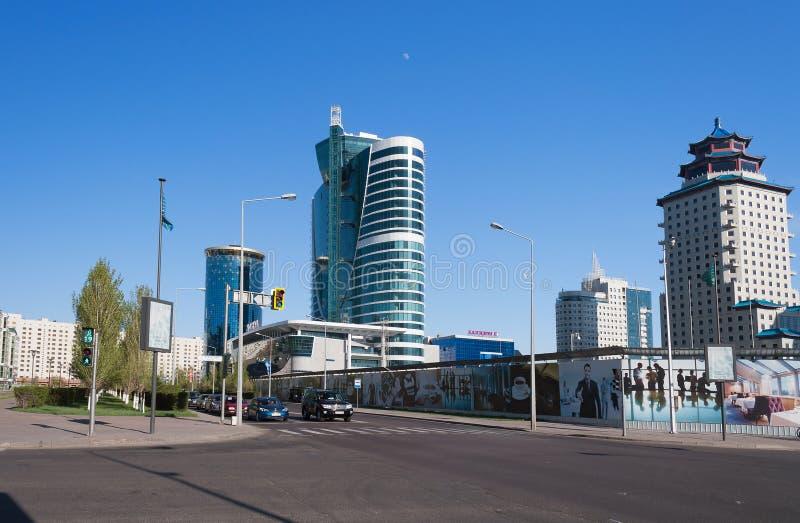 Bâtiments modernes à Astana Kazakhsatan images stock