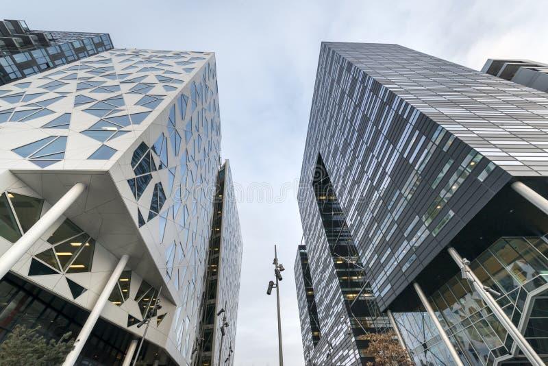 Bâtiments modernes à Oslo du centre photo stock