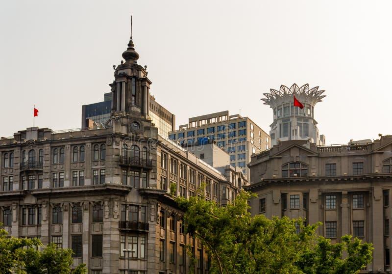 Bâtiments modernes Bund Changhaï Chine de vieux bâtiments photos libres de droits