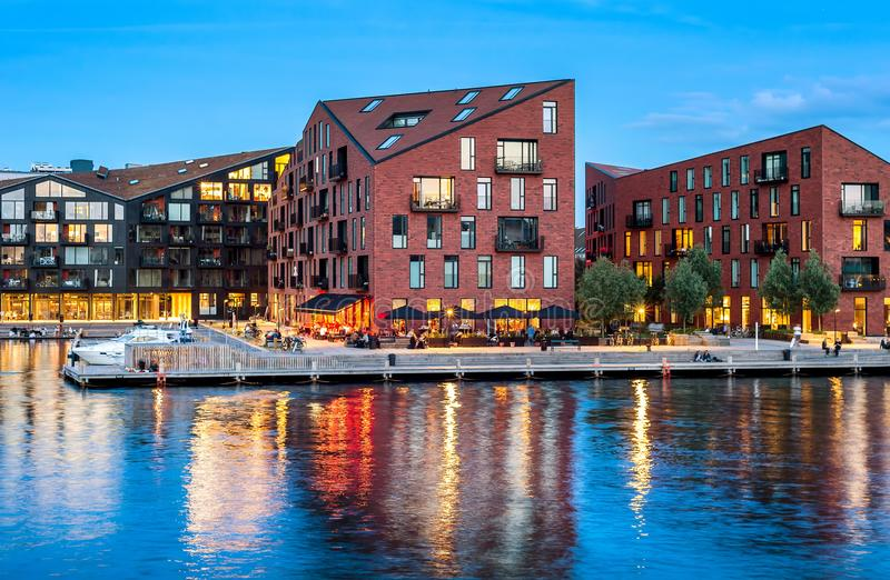 Bâtiments modernes de conception d'architecture, Copenhague photos stock