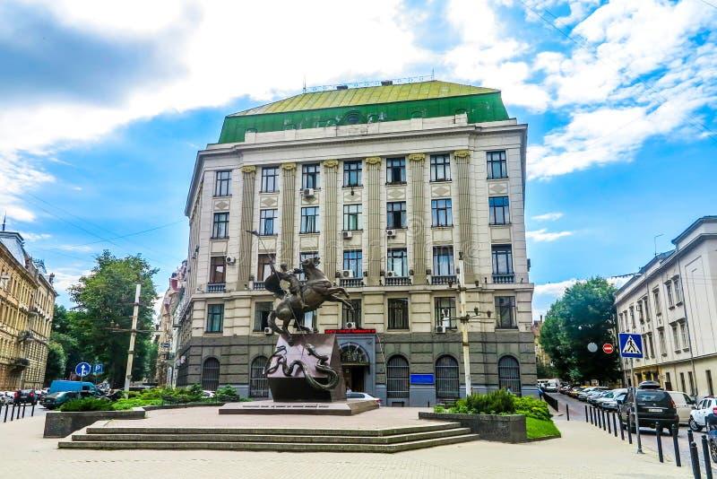 Bâtiments néoclassiques 02 de Lviv image stock