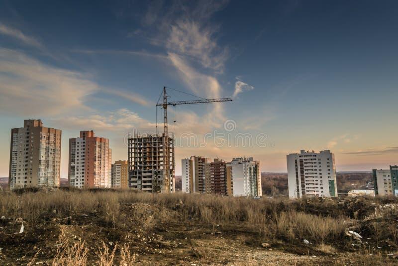 Bâtiments nouvellement construits de résidence images libres de droits