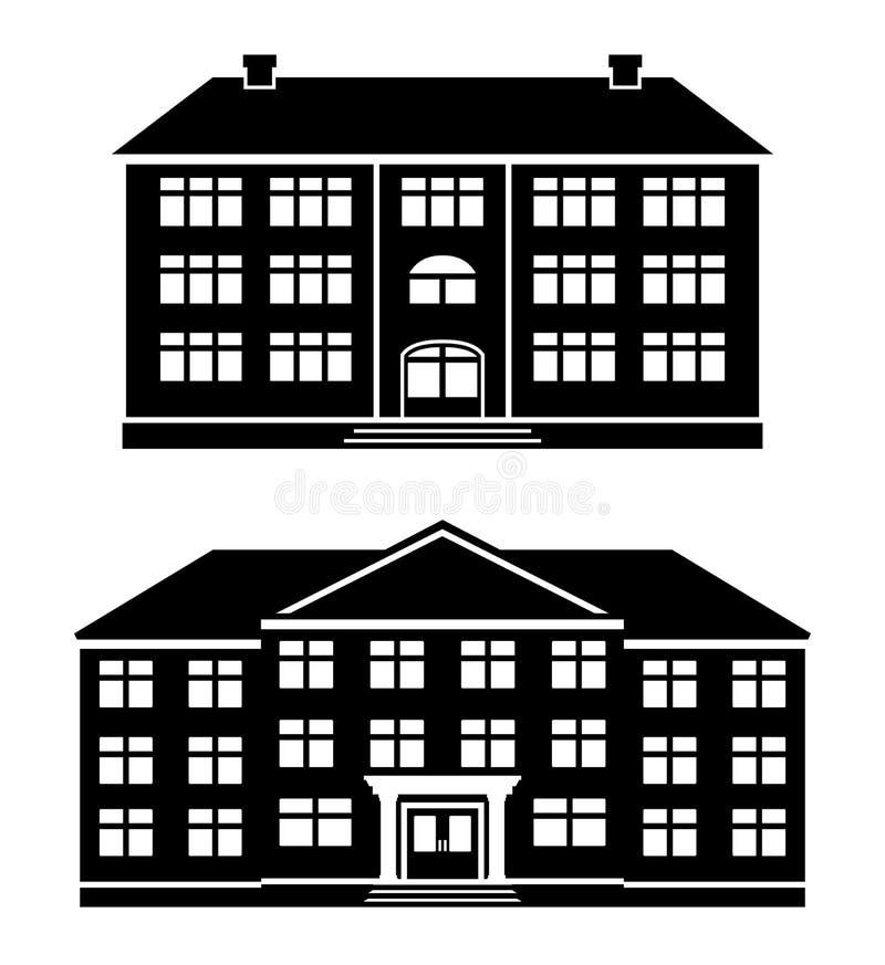 Bâtiments réglés d'icône de vecteur illustration de vecteur