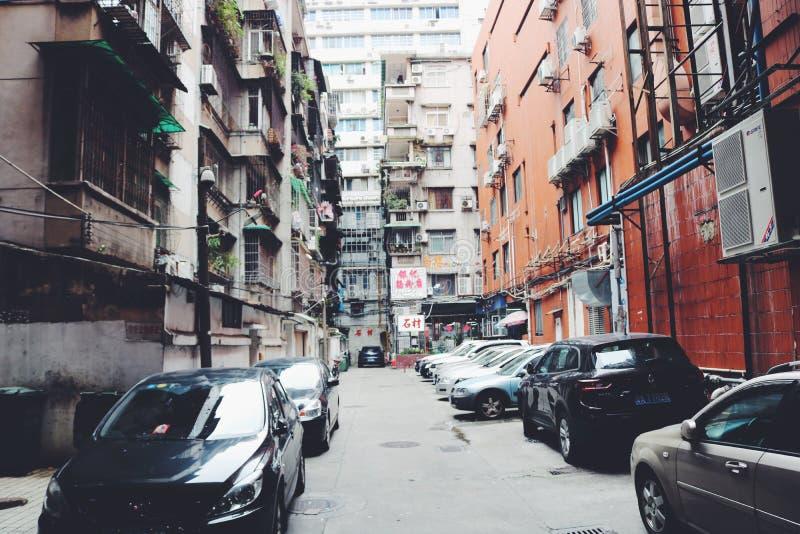 Bâtiments résidentiels architecturaux modernes dans Guangzhou, Chine image stock