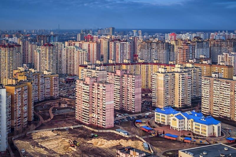 Bâtiments résidentiels colorés, jour, extérieur images libres de droits