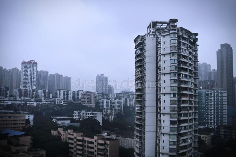 B?timents r?sidentiels comme des for?ts, Chongqing image libre de droits