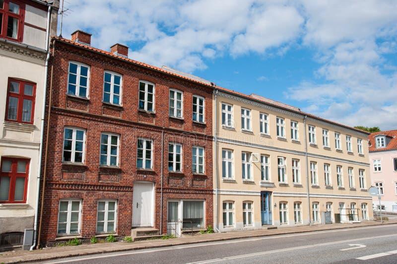 Bâtiments résidentiels dans Ringsted Danemark images libres de droits