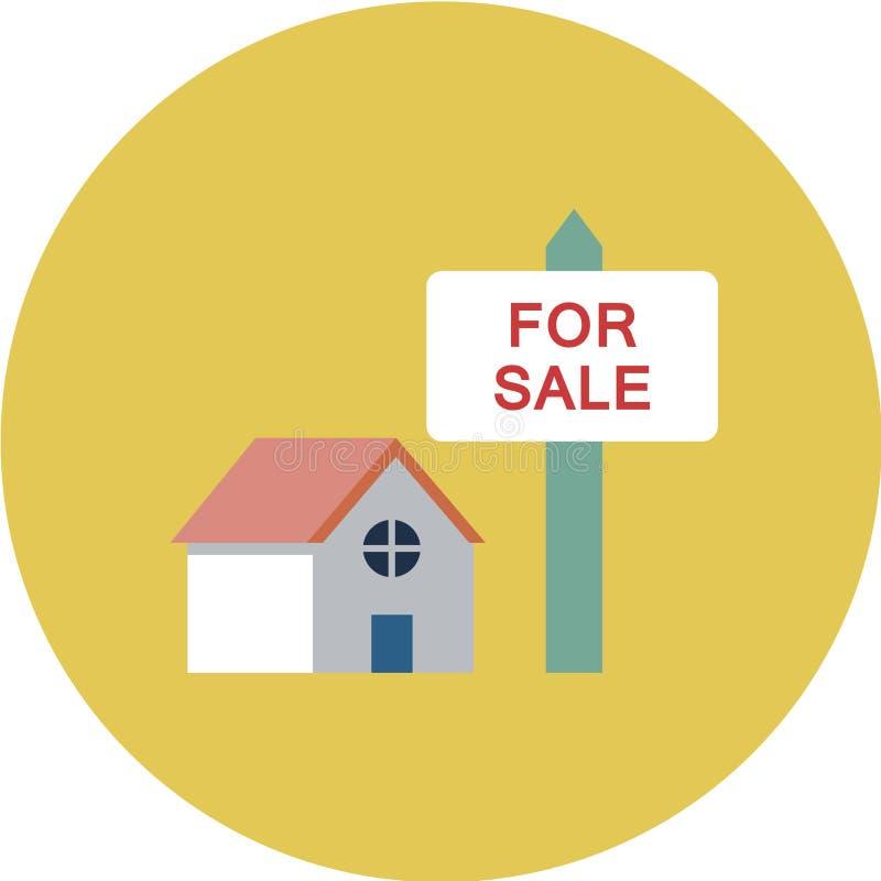 Bâtiments résidentiels de ville, ensemble d'icônes de vecteur Objets municipaux d'immobiliers d'isolement sur le fond blanc illustration libre de droits
